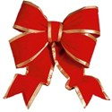 Red and gold bow