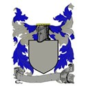 Blazon blue with banner