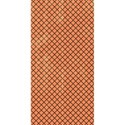 half sheet tangerine and brown criss cross