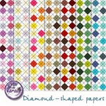 Diamond-shaped Papers