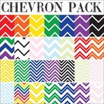 Rainbow and Pastel Chevron Patterns