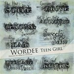 Teenage Girl Word Art