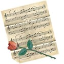 music and rose