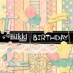 Birthday Kit & pages by Mikki