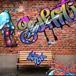 Graffiti Hip Hop Brick Wall