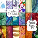 Creative Canvases ~ Painted Paper Pack