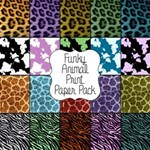 Funky Animal Print Paper Pack