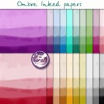 Ombre Inked Papers