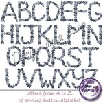 Sewing Button Alphabet