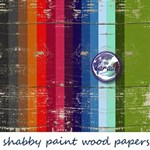 Shabby paint wood Digital Papers Pack