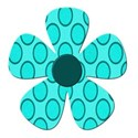 dot blue flower