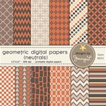 Geometric Patterned Papers- Neutral