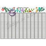 Birthday Calendar Lovely Gardentime 16x24 print