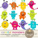 Colorful, Silly and Cute Monsters
