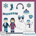 Winter Snow Fun Clip Art