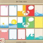 By the Sea - 4x3  Journal Cards