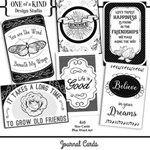 B&W Journal Cards - Set One