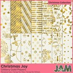 Christmas Joy - Glittery Gold Papers