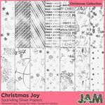 Christmas Joy - Sparkling Silver Papers