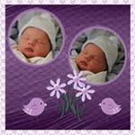 Purple Baby Photo Book