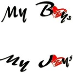 My Boys My Joys Word Art