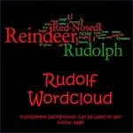 Rudolf the Red Nosed Reindeer Wordcloud